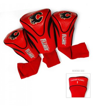 Team Golf CALGARY FLAMES 3 Pack Contour Golf Head Covers