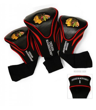 Team Golf CHICAGO BLACKHAWKS 3 Pack Contour Golf Head Covers