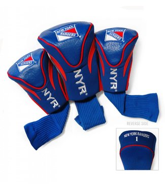 Team Golf NEW YORK RANGERS 3 Pack Contour Golf Head Covers