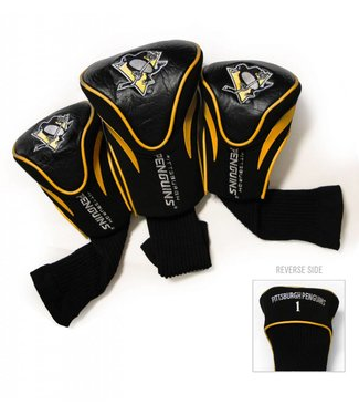 Team Golf PITTSBURGH PENGUINS 3 Pack Contour Golf Head Covers