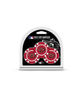 Team Golf ARIZONA DIAMONDBACKS 3 Pack Golf Chip Ball Markers