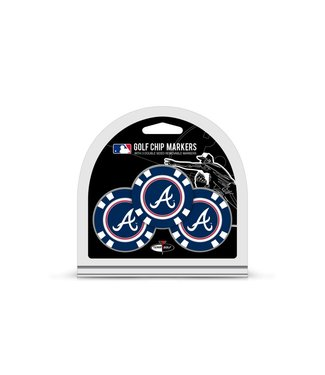 Team Golf ATLANTA BRAVES 3 Pack Golf Chip Ball Markers
