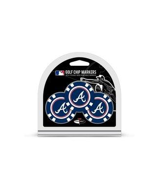 Team Golf ATLANTA BRAVES 3 Pack Golf Chip Ball Markers