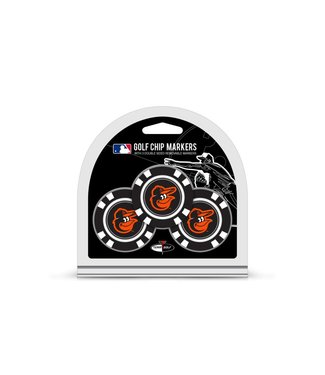 Team Golf BALTIMORE ORIOLES 3 Pack Golf Chip Ball Markers