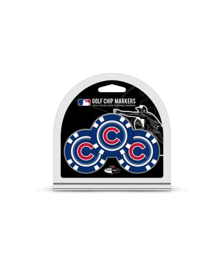 Team Golf CHICAGO CUBS 3 Pack Golf Chip Ball Markers