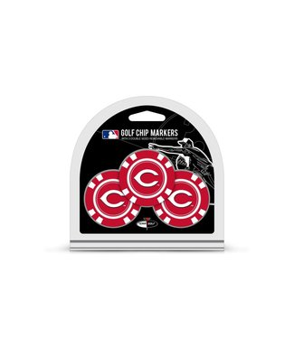 Team Golf CINCINNATI REDS 3 Pack Golf Chip Ball Markers
