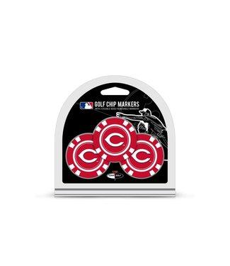 Team Golf CINCINNATI REDS 3 Pack Golf Chip Ball Markers