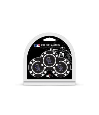 Team Golf COLORADO ROCKIES 3 Pack Golf Chip Ball Markers