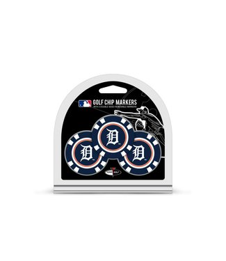 Team Golf DETROIT TIGERS 3 Pack Golf Chip Ball Markers