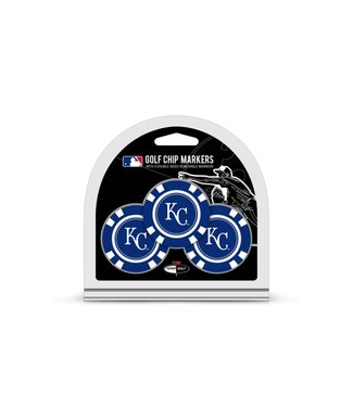 Team Golf KANSAS CITY ROYALS 3 Pack Golf Chip Ball Markers