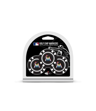 Team Golf MIAMI MARLINS 3 Pack Golf Chip Ball Markers