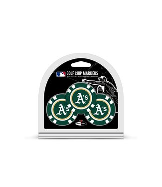 Team Golf OAKLAND ATHLETICS 3 Pack Golf Chip Ball Markers