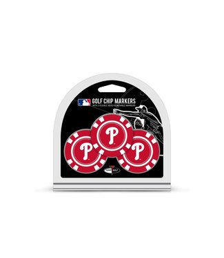 Team Golf PHILADELPHIA PHILLIES 3 Pack Golf Chip Ball Markers