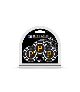 Team Golf PITTSBURGH PIRATES 3 Pack Golf Chip Ball Markers