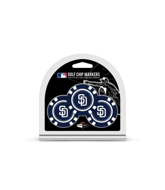 Team Golf SAN DIEGO PADRES 3 Pack Golf Chip Ball Markers