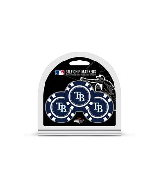 Team Golf TAMPA BAY RAYS 3 Pack Golf Chip Ball Markers