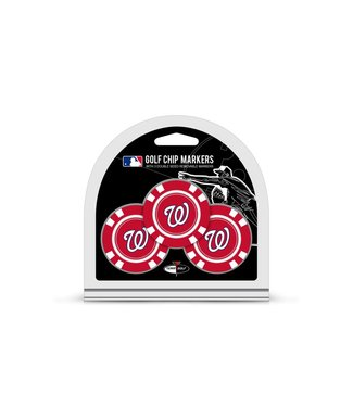 Team Golf WASHINGTON NATIONALS 3 Pack Golf Chip Ball Markers