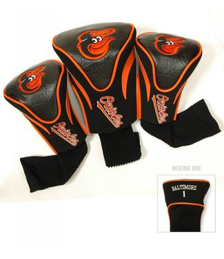 Team Golf BALTIMORE ORIOLES 3 Pack Contour Golf Head Covers