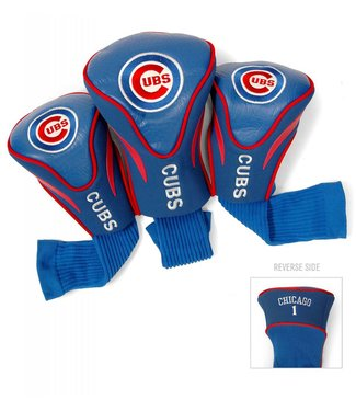 Team Golf CHICAGO CUBS 3 Pack Contour Golf Head Covers