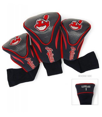 Team Golf CLEVELAND INDIANS 3 Pack Contour Golf Head Covers