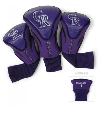 Team Golf COLORADO ROCKIES 3 Pack Contour Golf Head Covers