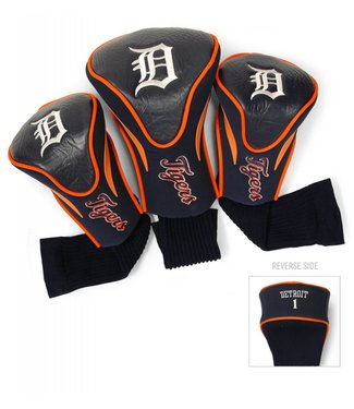 Team Golf DETROIT TIGERS 3 Pack Contour Golf Head Covers