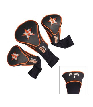 Team Golf HOUSTON ASTROS 3 Pack Contour Golf Head Covers