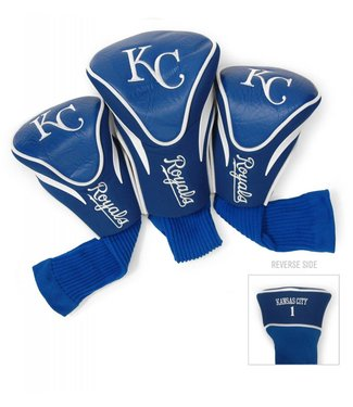 Team Golf KANSAS CITY ROYALS 3 Pack Contour Golf Head Covers