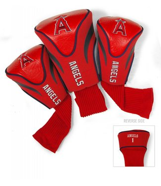 Team Golf LOS ANGELES ANGELS 3 Pack Contour Golf Head Covers
