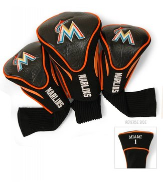 Team Golf MIAMI MARLINS 3 Pack Contour Golf Head Covers