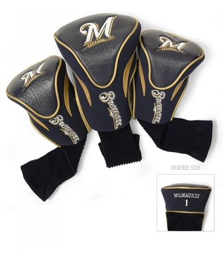 Team Golf MILWAUKEE BREWERS 3 Pack Contour Golf Head Covers