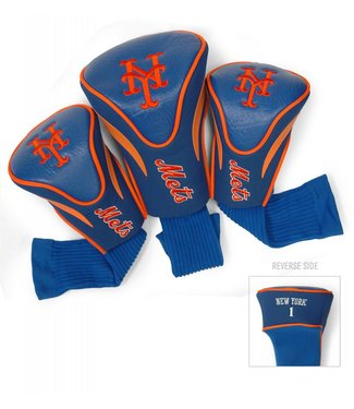 Team Golf NEW YORK METS 3 Pack Contour Golf Head Covers