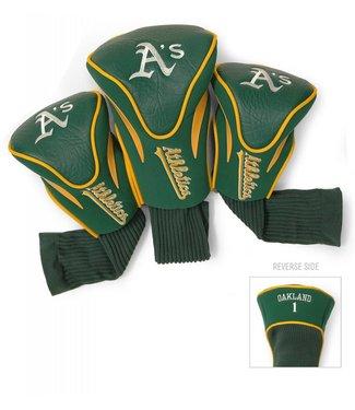 Team Golf OAKLAND ATHLETICS 3 Pack Contour Golf Head Covers