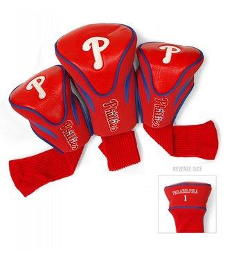 Team Golf PHILADELPHIA PHILLIES 3 Pack Contour Golf Head Covers