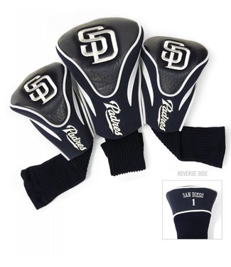 Team Golf SAN DIEGO PADRES 3 Pack Contour Golf Head Covers