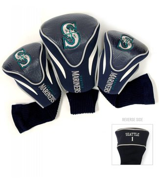 Team Golf SEATTLE MARINERS 3 Pack Contour Golf Head Covers