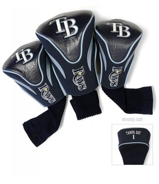 Team Golf TAMPA BAY RAYS 3 Pack Contour Golf Head Covers