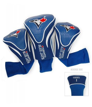 Team Golf TORONTO BLUE JAYS 3 Pack Contour Golf Head Covers