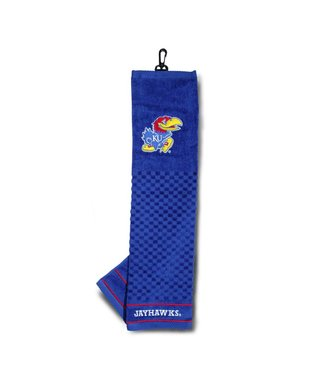 Team Golf KANSAS JAYHAWKS Embroidered Golf Towel
