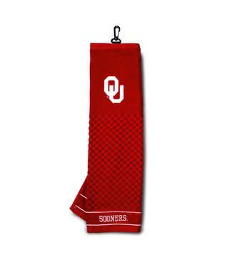 Team Golf OKLAHOMA SOONERS Embroidered Golf Towel