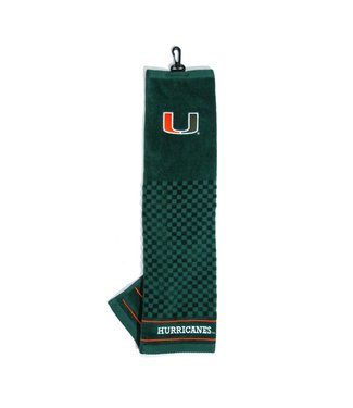 Team Golf MIAMI HURRICANES Embroidered Golf Towel