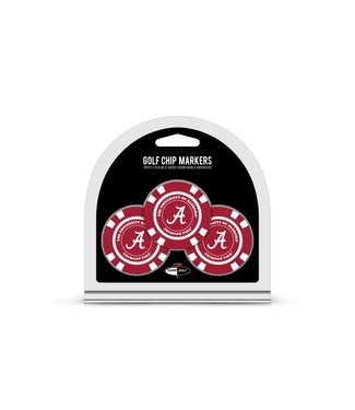 Team Golf ALABAMA CRIMSON TIDE 3 Pack Golf Chip Ball Markers