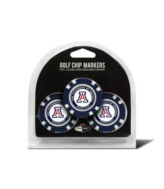 Team Golf ARIZONA WILDCATS 3 Pack Golf Chip Ball Markers
