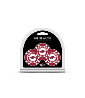 Team Golf ARKANSAS RAZORBACKS 3 Pack Golf Chip Ball Markers