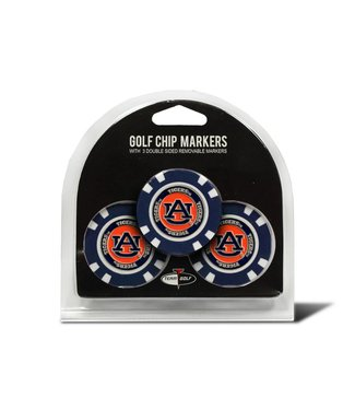 Team Golf AUBURN TIGERS 3 Pack Golf Chip Ball Markers