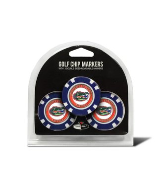 Team Golf FLORIDA GATORS 3 Pack Golf Chip Ball Markers