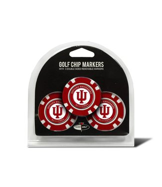 Team Golf INDIANA HOOSIERS 3 Pack Golf Chip Ball Markers