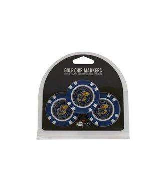 Team Golf KANSAS JAYHAWKS 3 Pack Golf Chip Ball Markers