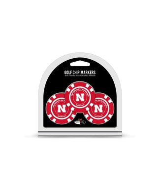 Team Golf NEBRASKA CORNHUSKERS 3 Pack Golf Chip Ball Markers