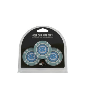 Team Golf NORTH CAROLINA TAR HEELS 3 Pack Golf Chip Ball Markers
